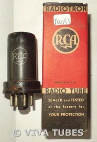 In Box RCA USA 12SC7 Metal RST Vacuum Tube 88%