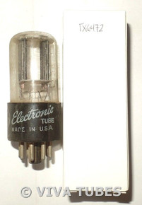 GE USA 12SN7GT Flat Black Plate [] Get TALL Vacuum Tube 98/66%