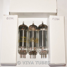 NOS Matched Trio (3) 1960 Westinghouse USA 6AQ5A [EL90] Black Plate Vacuum Tubes