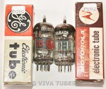 NOS NIB Matched Pair 1961 RTC France 6AQ8/ECC85 Gray Plate Vacuum Tubes