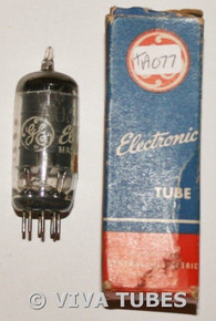 In Box 1957 GE USA 6AU6A [EF94] Black Plate Fat D Get Vacuum Tube 78%