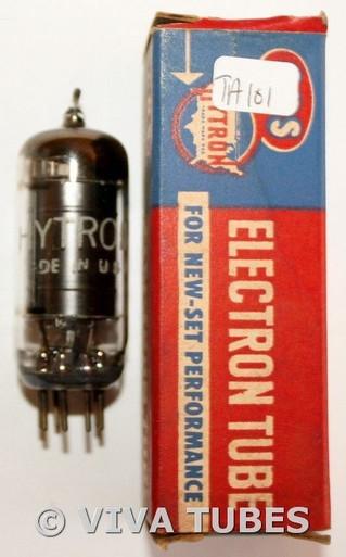 In Box 1961 Hytron [CBS] USA 6AU6 [EF94] Black Plate Top [] Get Vacuum Tube 66%