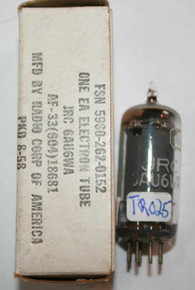 RCA USA 6AU6WA Grey Smooth Plate Top [] Getter Vacuum Tube 6AU6