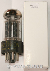 NOS Raytheon USA 6BL7GT Black Plate Top Get 3 Mica Chipped Base Vacuum Tube