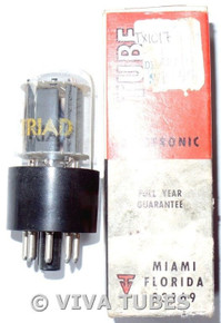 NOS NIB Triad USA 6EM7/6EA7 Gray Plate Side O Get Vacuum Tube 100+%