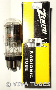 NOS NIB RCA (Zenith Label) USA 6EM7/6EA7 Black Plate Coin Base Vacuum Tube
