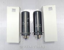 NOS Matched Pair RCA Radiotron USA JAN-CRC-6L6 Metal Vacuum Tubes 100+%