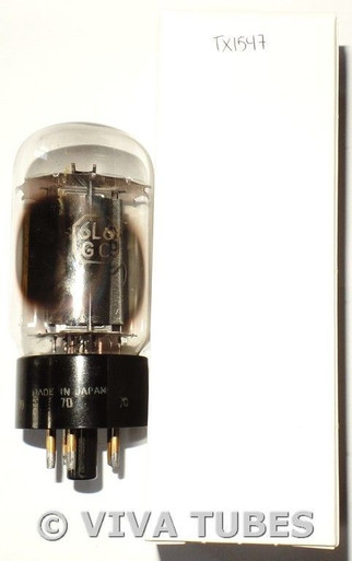 BAD FOR DISPLAY Unknown Japan 6L6GC Black Plate 2 Side O Get Vacuum Tube