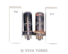 Matched Pair RCA Radiotron USA 6N7 Metal Vacuum Tubes 84/110% & 88/88%