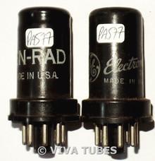 Matched Pair 1948 GE USA 6SC7 Metal Vacuum Tubes 83/73 & 78/70%