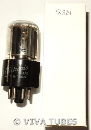 1958 GE USA 6SN7GTB Gray Flat Plate Side Fat D Get Vacuum Tube 104/66%