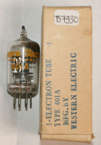 NOS NIB Western Electric USA 401A [5590] Black Plate Top D Get Vacuum Tube 100%