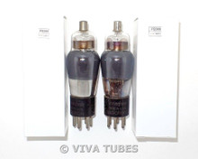 NOS Date Matched Pair RCA Cunningham USA Type 58 SMOKED ENGRAVED Vacuum Tubes