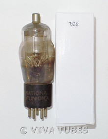 National Union NU USA Type 24A Silver Mesh ENGRAVED Vacuum Tube 73%
