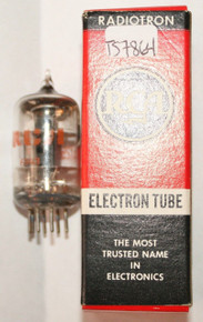 In Box RCA USA 5725/6AS6W Black Plate Top O GET Vacuum Tube 92%