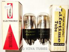 NOS Matched Pair Sylvania USA 1C5GT Vacuum Tubes