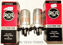 NOS NIB Matched Pair RCA Radiotron USA 0Z4 Metal Vacuum Tubes 100+%