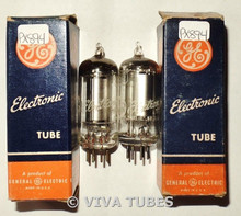 NOS NIB Matched Pair GE USA 1S4 [DL1] Zenith Transoceanic Vacuum Tubes 100+%
