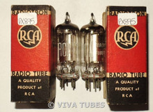 NOS NIB Date Matched Pair RCA USA 1S4 [DL1] Zenith Transoceanic Vacuum Tubes