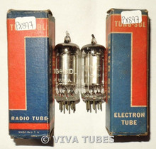 NOS NIB Matched Pair Vintage Tung-Sol USA 1S4 [DL1] Transoceanic Vacuum Tubes