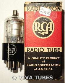 NOS NIB RCA USA 1D8GT Silver Plate BTM [] Get Vacuum Tube 100+%