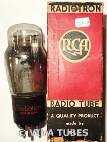 NOS NIB RCA Radiotron USA 1F4 Silver Plate BTM D Foil Get Vacuum Tube 100+%