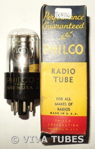 NOS Philco / Sylvania USA 1Q5GT Silver Round Plate BTM D Foil Get Vacuum Tube