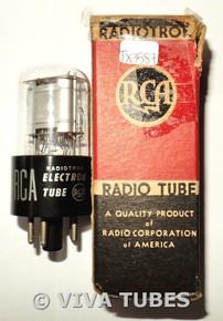 NOS NIB RCA USA 1Q5GT Silver Round Plate BTM [] Get Vacuum Tube 100+%