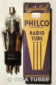 NOS NIB Philco USA 2B7 Black Smooth Plate Bottom D Foil Get Vacuum Tube
