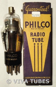 NOS NIB Philco USA 2B7 Black Smooth Plate Bottom D Foil Get Vacuum Tube 100+%