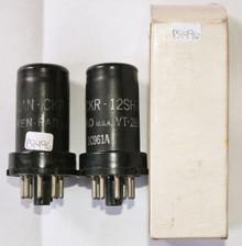 NOS Matched Pair Ken-Rad USA JAN-CKR-12SH7 / VT-288 Metal Vacuum Tube