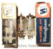 In Box Matched Pair Westinghouse USA 12BE6 Gray Plate Vacuum Tubes 78% 85%