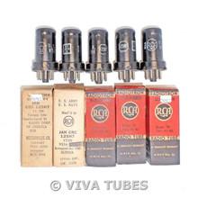 NOS NIB Date Matched Sleeve 5 RCA USA JAN-CRC-12SH7/VT-288 Vacuum Tubes 100+%