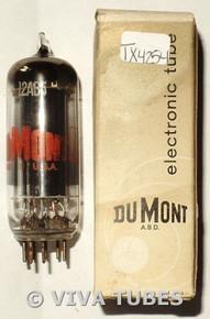 NOS NIB Dumont USA 12AB5 Black Smooth Plate Top [] Get Smoked Glass Vacuum Tube