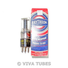 NOS NIB Raytheon USA 25Z5 Black Plate Double [] Get Tubular Vacuum Tube 100+%