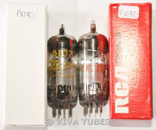 Matched Pair Siemens Germany 6EJ7 / EF184 Vacuum Tubes 68 & 72%