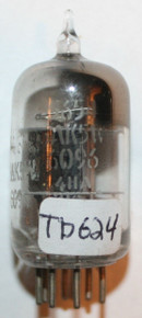 GE USA 5654 / 6AK5W / 403B Black Plate [] Getter Vacuum Tube 80%  [MIL SPEC]