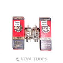 NOS NIB Matched Pair RCA USA 6AK5 EF95 Silver Plate Little Dot Vacuum Tubes