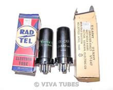 NOS NIB Date Matched Pair Ken-Rad USA JAN-CKR-6AG7/VT-247 Metal Vacuum Tubes
