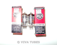 Matched Pair RCA USA 6BJ6 Black Plate Top [] Get Vacuum Tubes 73% & 81%
