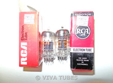 Matched Pair RCA USA 6BK7B Black Plate Top O Get Vacuum Tubes 97/80% & 89/83%