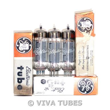 NOS NIB Matched Trio (3) Mullard Britain 6EM5 Grey Plate Top O Get Vacuum Tubes