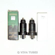 NOS NIB Matched Pair Sylvania USA 6J7 Metal Vacuum Tubes 100+%