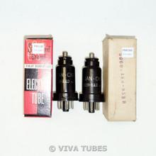 Matched Pair Ken-Rad USA JAN-CKR-6J7/VT-91 Metal Vacuum Tubes 75% & 88%