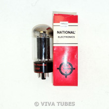 NOS NIB National USA 6L66 L6GB or 6L6GC? Black Plate Vacuum Tube 100%