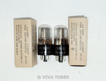 NOS NIB Date Matched Pair Ken-Rad JAN-CKR-3Q5GT / VT-221 Vacuum Tubes