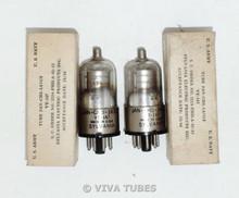 NOS NIB Date Matched Pair Sylvania 1A7GT / VT-147 Mil Spec Vacuum Tubes