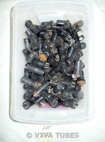 Mixed lot of 100+ Loose Metal Vacuum Tubes. 6SK7 6BS7 12SQ7 12SK7 12A6 12SG7