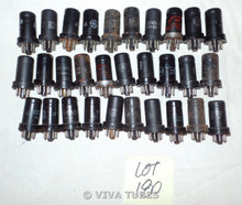 Lot of 30 6AC7 Metal Loose Vacuum Tubes. Untested Mixed Brands. Not NOS.