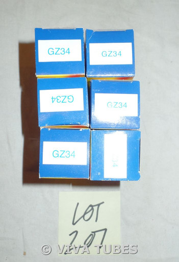 Lot of 9 DEFECTIVE JJ 5AR4/GZ34 Boxed Vacuum Tubes